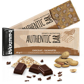OVERSTIM.s Authentic Caja Barritas Energéticas 6x65g, Chocolate Peanuts